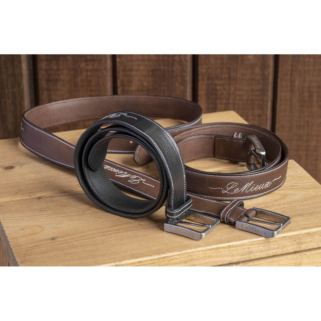 LeMieux Signature Leather Belt Brown