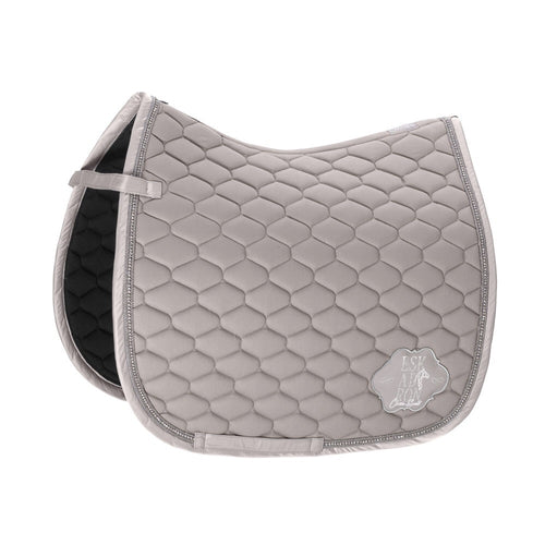 Eskadron Classic Sports Cotton Emblem Saddle Pad Soft Grey