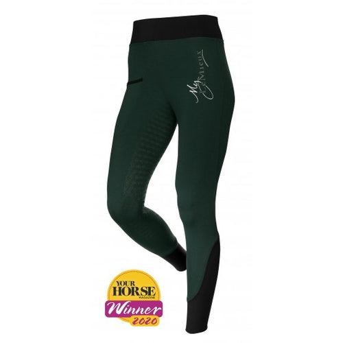 LeMieux Activewear Pull On Seamless Breeches Green
