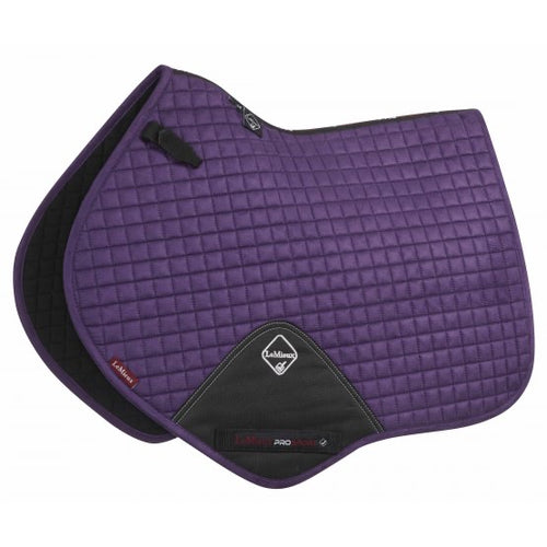LeMieux Suede Jumping Saddle Pad Blackcurrant