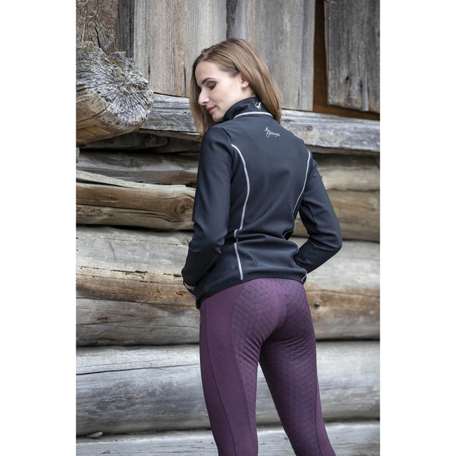 LeMieux Activewear Pull On Seamless Breeches Burgundy