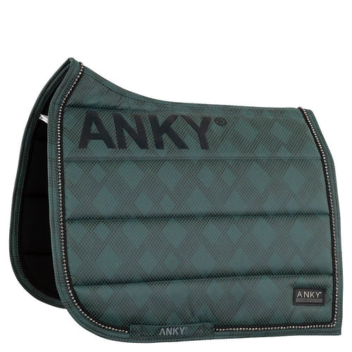 ANKY Limited Edition Check Pearl Dressage Saddle Pad Deep Green