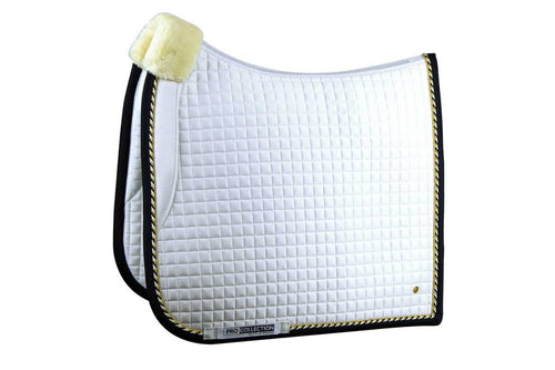 PS of Sweden Dressage Saddle Pad Pro Fleece White & Navy