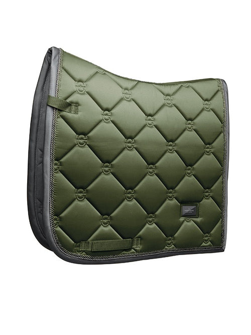 Equestrian Stockholm Dressage Saddle Pad Olive
