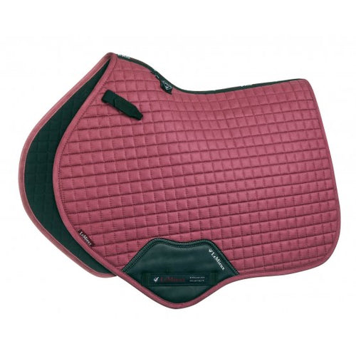 LeMieux Suede Jumping Saddle Pad French Rose
