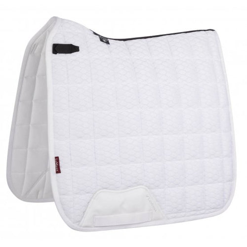LeMieux Carbon Mesh Dressage Saddle Pad White