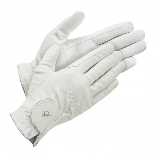 LeMieux Classic Riding Gloves White