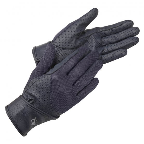 LeMieux Mesh Riding Gloves Navy
