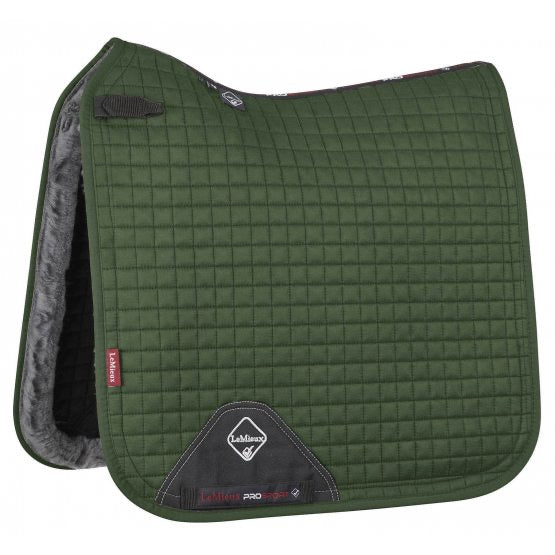 LeMieux Merino+ Sensitive Skin Dressage Square Hunter Green