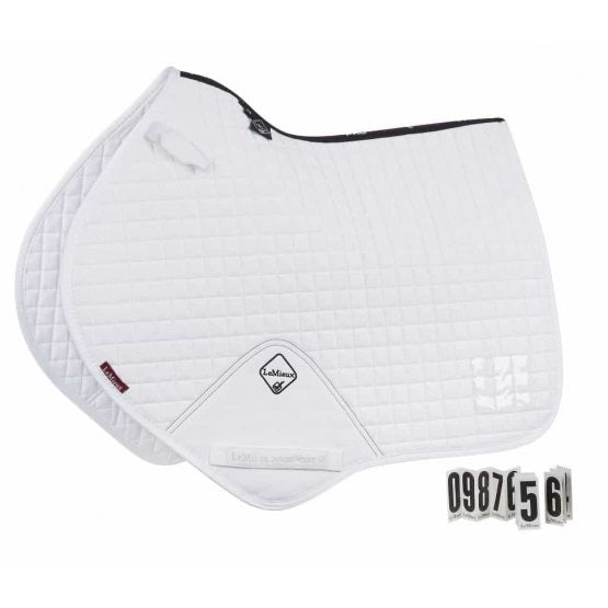 LeMieux Cotton Jumping Saddle Pad White Competition