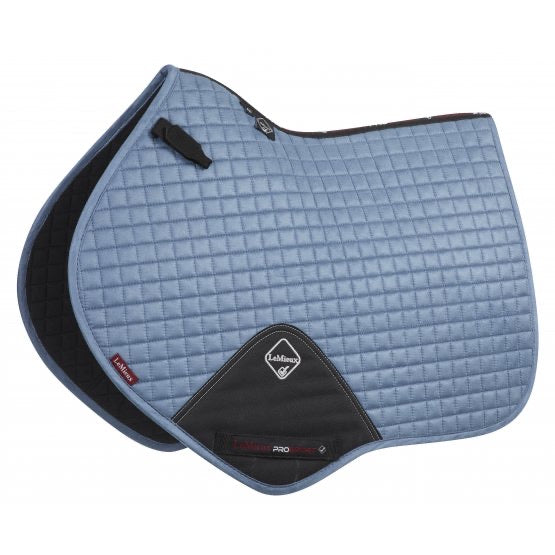 LeMieux Suede Jumping Saddle Pad Ice Blue