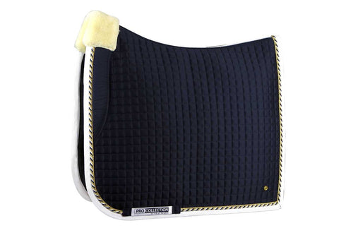 PS of Sweden Dressage Saddle Pad Pro Fleece Navy & White