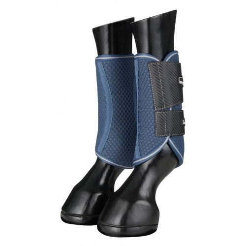 LeMieux Carbon Mesh Brushing Boots Blue/Grey