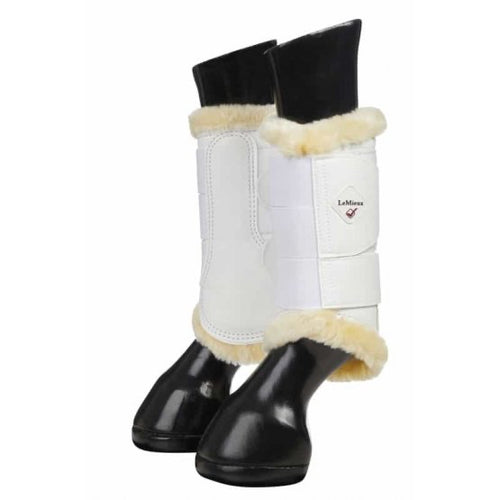 LeMieux Fleece Brushing Boots White/Natural