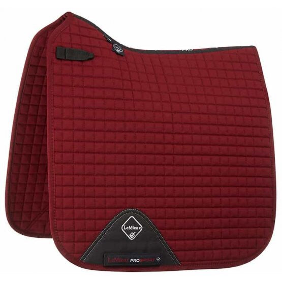 LeMieux Cotton Dressage Saddle Pad Burgundy