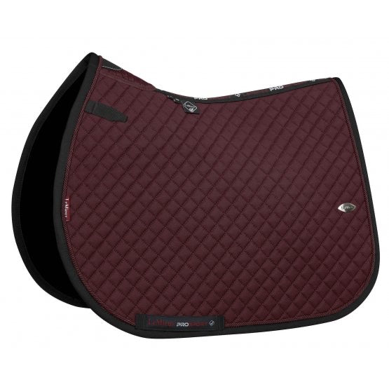 LeMieux Wither Relief Mesh Jumping Saddle Pad Burgundy