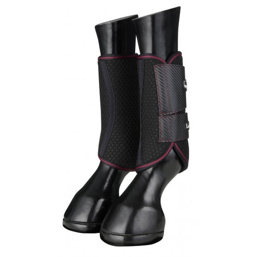 LeMieux Carbon Mesh Brushing Boots Black/Mulberry
