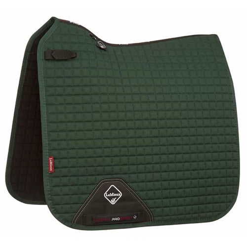 LeMieux Cotton Dressage Saddle Pad Green