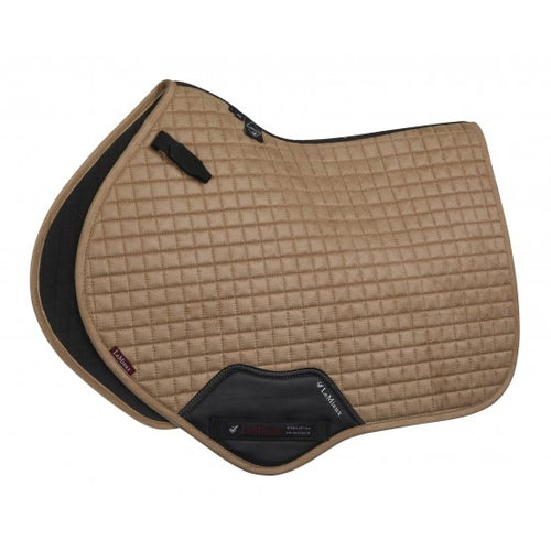 LeMieux Suede Jumping Saddle Pad Champagne