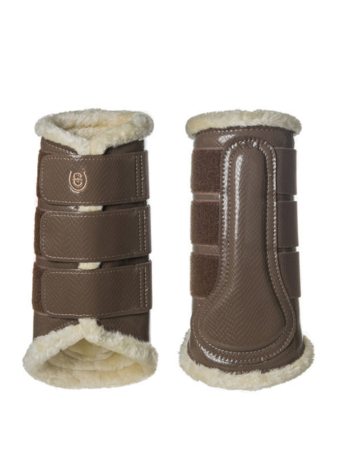 Equestrian Stockholm Fleece Brushing Boots Champagne