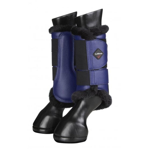LeMieux Fleece Brushing Boots Ink Blue