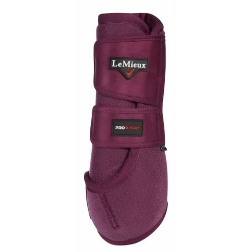 LeMieux Support Boots Plum