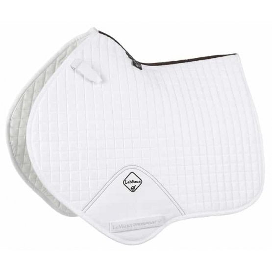LeMieux Suede Jumping Saddle Pad White