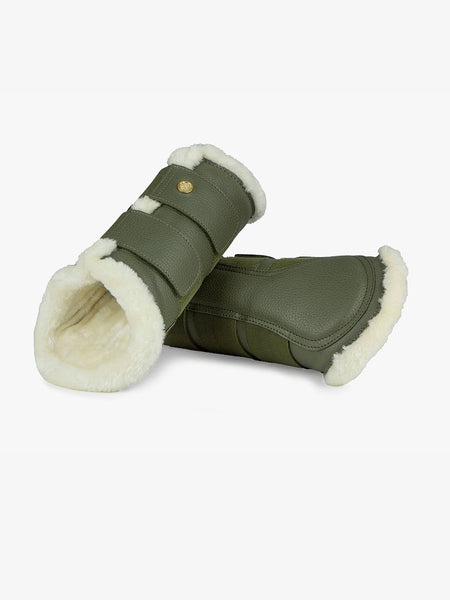 PS of Sweden Fleece Brushing Boots Moss | set of 4