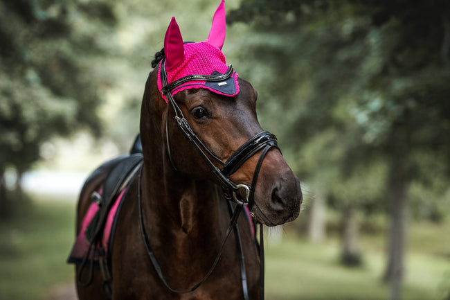 Equestrian Stockholm Ear Bonnet Faded Fuchsia