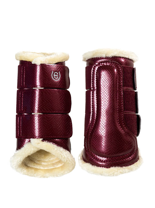 Equestrian Stockholm Fleece Brushing Boots Bordeaux