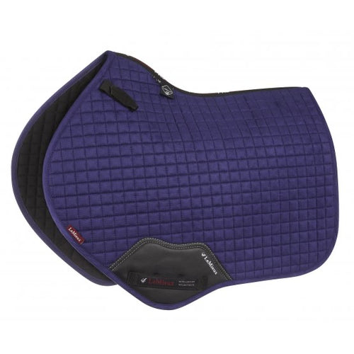 LeMieux Suede Jumping Saddle Pad Ink Blue