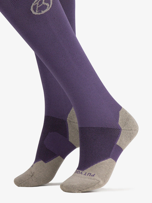 PS of Sweden Holly Socks Coffee & Plum (2 pack)