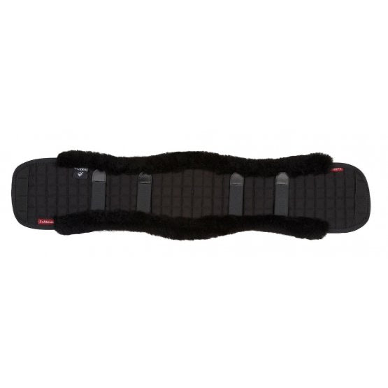 LeMieux Lambswool Dressage Girth Cover Black/Black