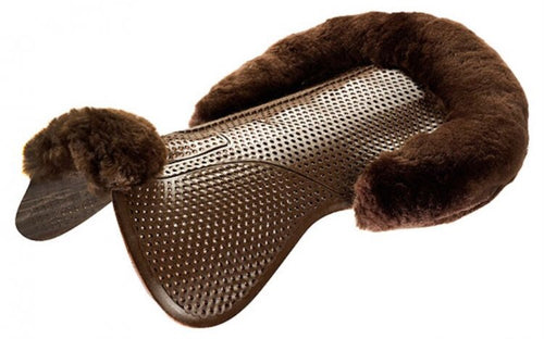ACAVALLO Just-Gel Lambskin Half Pad Brown PREORDER
