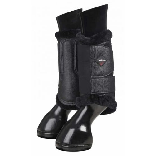 LeMieux Fleece Brushing Boots Black/Black