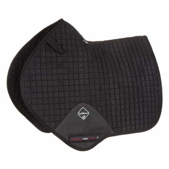 LeMieux Suede Jumping Saddle Pad Black