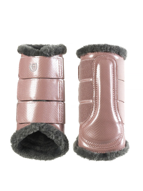 Equestrian Stockholm Fleece Brushing Boots Pink