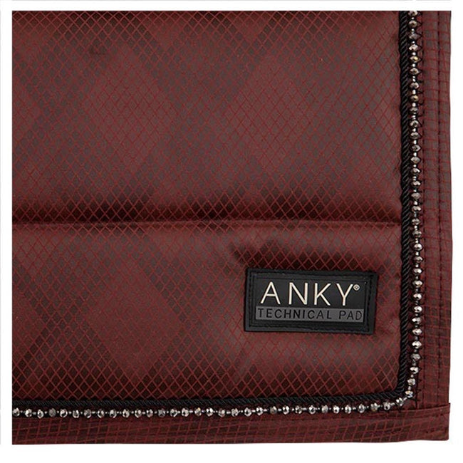 ANKY Limited Edition Check Pearl Dressage Saddle Pad Garnet Red