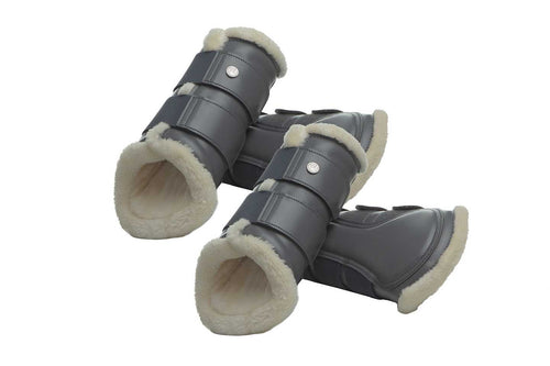 PS of Sweden Fleece Brushing Boots Charcoal (set of 4)