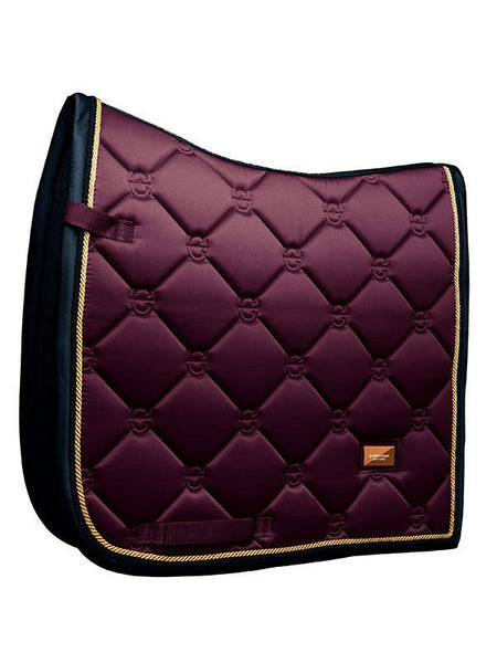 Equestrian Stockholm Dressage Saddle Pad Purple Gold