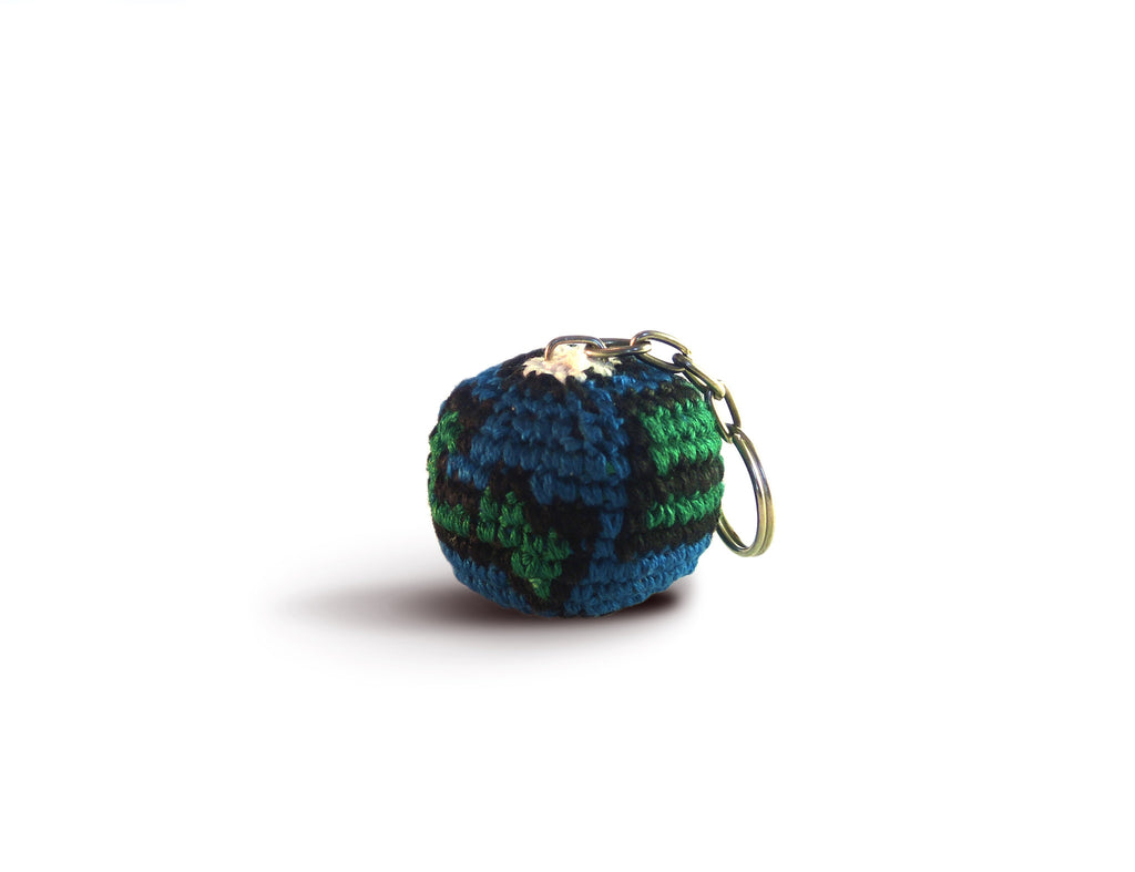 Earth Crocheted Keychain