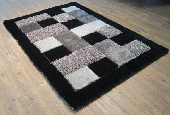 Black Color Area Rug