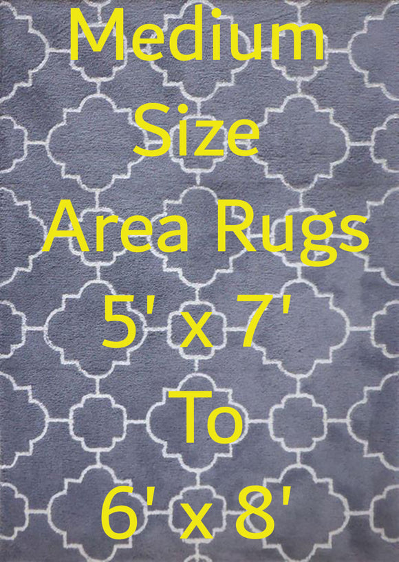 Medium Size Rugs From 5' x 7' to 6' x 8'