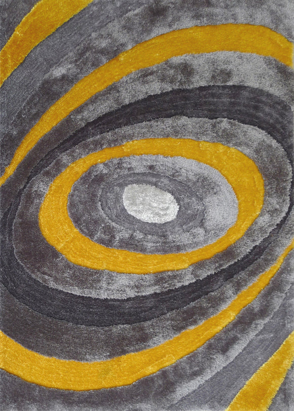 Yellow and Gray Area Rug