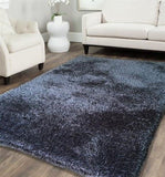 Hand Tufted Shag Viscose Solid Area Rug GREY