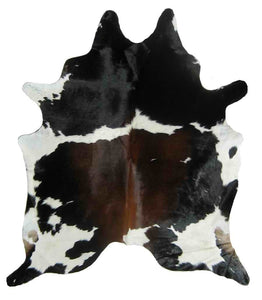 Brazilian Brown with Black and White Cowhide