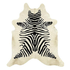 Brazilian Cowhide in Brown with Black Zebra
