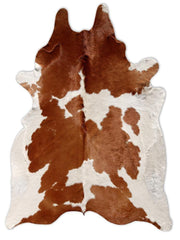 Brazilian brown with white cowhide