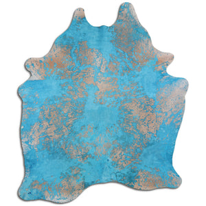 turquoise abstract area rug 8x11