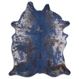 Gray Abstract Leaf Modern Rug 5x8